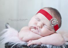 BEJEWELED HeadbandRed HeadbandNewborn Baby by whisperbugboutique, $12.50