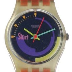 Swatch Pink-Podium LK119 - 1990 Fall Winter Collection