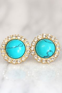 ****OUR BIGGEST SALE OF THE YEAR -FREE SHIPPING & DISCOUNTS****  Turquoise Earrings,Turquoise Stud Earrings,Gift for her,December Birthstone,Bridal  #Turquoise, #earrings, #jewelry, #fashion, #style
