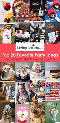 Top 20 DIY Party Ideas, Crafts and Recipes. So many fun ideas! LivingLocurto.com