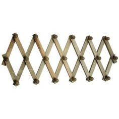 wooden collapsible hooks rack Wooden Wall Mounted Peg Board Collapsible  Expandable Trellis Coat Rack .