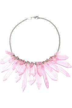 Tatty Devine Pink Crystal Shards