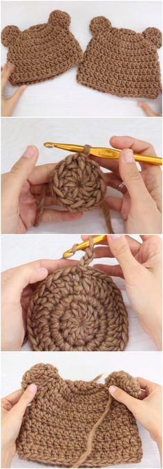 Crochet Bear Beanie Hats For Moms And Kids