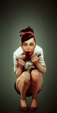 Cat Eater by glooh.deviantart.com on @deviantART