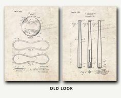 Patent Print  Baseball Patent and Baseball Bat by FrameAPatent