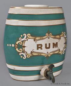 Rum, English Ironstone barrel