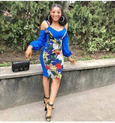 Beautiful Ankara Short Gown in 2019 Ankara Short Gown Dresses, Latest Ankara Short Gown, Ankara Short Gown Styles, Short Gowns, African Fashion Dresses, Ankara Fashion, African Attire, Nigerian Fashion, Ankara Skirt