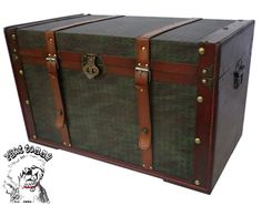 decrutive trucks | Details about PHAT TOMMY Decorative Storage Steamer Trunk Chest Wood ...