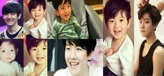 Baekhyun now and as a baby ... .... how cute he is and still ♥♥