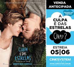"""""""A Culpa é das Estrelas"""" estreia em 05 de junho. Trailer: http://youtu.be/cYvQSEbD3tA"""
