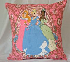 Disney Princess Decorative  Throw Pillow Covers in by pillows4fun, $26.00