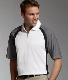 Charles River Apparel Men's Trinity Polo Shirt with Zipper Neck - Style 3426 #zipperpolo #menspoloshirt #charlesriverapparel