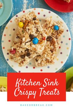 Kitchen Sink Crispy Treats add big-time flavor and fun to classic crispy treats. Use your favorite combination of add-ins to dial these perfectly to your tastes. - Bake or Break