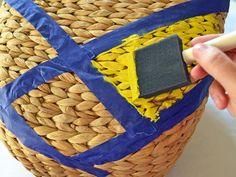 Painted basket DIY