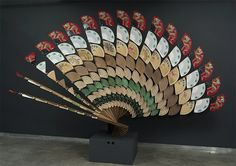 """Fan Mirror"" (2013) by Daniel Rozin"