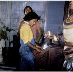 Janet Jackson and Todd Bridges at the Jackson Encino home in 1983.