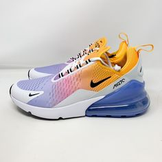 Nike Air Max 270 Summer Gradient Sz on Mercari Summer Sneakers, Air Max Sneakers, Sneakers Nike, Nike Air Shoes, Nike Air Max, Addidas Shirts, Johnson Baby Oil, Hype Shoes, Awesome Shoes