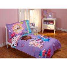 Disney Doc McStuffins Good as New 4pc Toddler Bedding Set, Purple