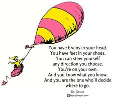 Print out and hang around the Favorite Dr. Seuss Quotes To Make You Smile Inspirational Artwork, Short Inspirational Quotes, Inspiring Quotes, Motivational Quotes, Dr. Seuss, Now Quotes, Go For It Quotes, Quotes To Live By, Life Quotes