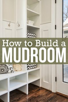 Creating a mudroom with the right storage elements can help you keep your entryway and the rest of your home a little neater. Find out how to build a mudroom that will stay organized.