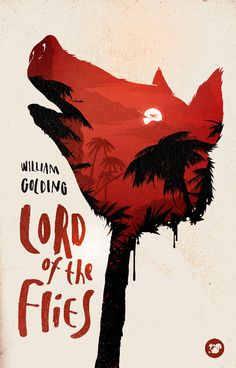 Cool Graphic Design, Lord of the Flies. #graphicdesign #poster [http://www.pinterest.com/alfredchong/] @Red on white with the large pig head being the number one attention grabber.