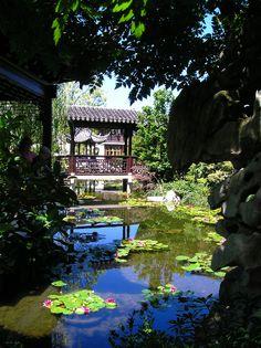 Chinese garden in Portland, Oregon