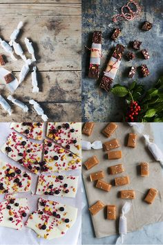 Assorted Sweets - not in English Edible Christmas Gifts, Edible Gifts, Christmas Fun, Danish Christmas, Scandinavian Christmas, Homemade Candies, Homemade Gifts, Danish Food, Wrap Recipes