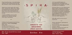 Spira - Golden Ale / IPA    http://www.beer-pedia.com/index.php/news/20-greece/5910-spira-golden-ale-ipa    #beerpedia #spira #spiraskopelosbrewers #thessalikimicrobrewery #goldenale #ipa #fuggle #cascade #mosaic #citra #drystout #weiss #beerblog #beernews #newrelease #newlabel #craftbeer #μπύρα #beer #bier #biere #birra #cerveza #pivo #alus