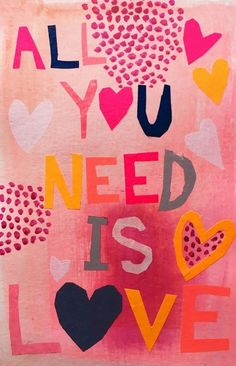 All You Need is Love Wall Art by Claire Picard from Great BIG Canvas. you need is love wallpaper All You Need is Love Love Wall Art, Love Art, All You Need Is Love, Love Is Sweet, Beatles, Hippie Party, Fun Illustration, Illustrations, Hippie Love