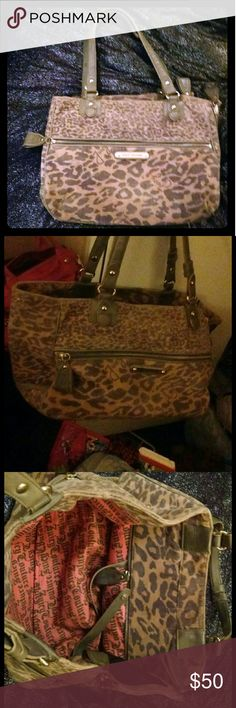 Juicy Couture pet carrier Leopard cheetah print Juicy Couture pet carrier Juicy Couture Bags Travel Bags