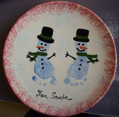 diy cookies for santa plate Baby Crafts, Toddler Crafts, Crafts For Kids, Christmas Plates, Kids Christmas, Preschool Christmas, Xmas, Cookies For Santa Plate, Santa Plates
