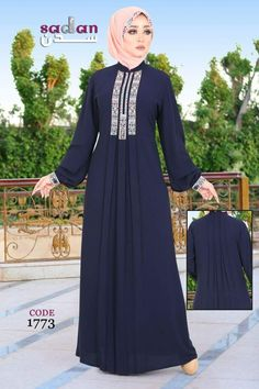 Abaya Fashion, Fashion Dresses, Hijab Styles, Hijab Dress, Abayas, Kimono, Places, Fashion Show Dresses, Trendy Dresses