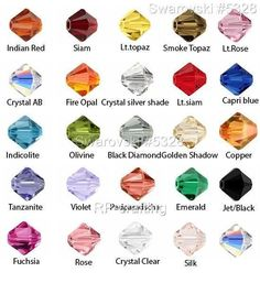 24 Authentic Swarovski Xilion Bicone Crystal Beads 4mm #5328-U Pick Color #Swarovski #Faceted