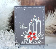 Poinsettias & Candles by Penny Ward