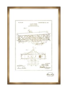 Wright Flying-Machine 1906 (Framed) by Oliver Gal at Gilt
