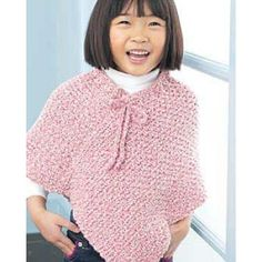 Easy kids knit poncho knitted poncho ponchos and bernat yarn free easy childs poncho knit pattern dt1010fo