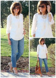 Sharing some lace and denim during my 28 Days of spring fashion.