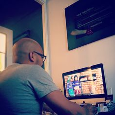 Sunday funday at the office, @luisbarreto13 color grading the trailer for #PeyoteDreams, to show at the @secoricardo #ss15 #mbfw show at #mbfw. #ricardoseco #dreams #fashiondocumentary #wtc  #fashionfilm #documentary #mexico #huichol #wixarika #peyotedreams #tribe #noirtribe #ethicalfashion