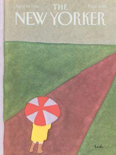 Heidi Goennel : Cover art for The New Yorker 2983 - 19 April 1982
