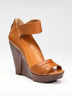 Diane von Furstenberg Muse Ankle-Strap Wedge Sandals
