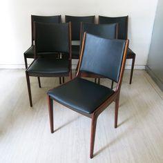 Danish Rosewood Chairs by Johannes Andersen for Uldum Mobelfabrik, 1960s, Set of 6 2