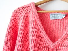 Up-close view of the Forenza v-neck sweater.  These were everywhere in the #80s!!!  How many colors did you have? http://www.liketotally80s.com/outback-red-vs-forenza.html