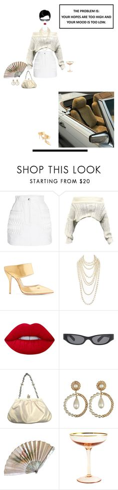 """What the f do you want"" by strangervibes ❤ liked on Polyvore featuring Courrèges, Paul Andrew, Chanel, Lime Crime, Acne Studios, Hervé Léger and Prima Design"