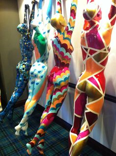 Painted Ladies. Paint a mannequin for shed decor.