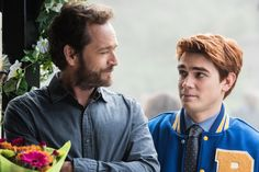 Like father, like son? See more of Luke Perry and KJ Apa as Fred and Archie Andrews on full episodes of Riverdale: www.cwtv.com/shows/riverdale