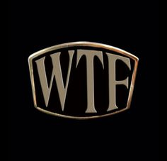 Bronze WTF Letter Ring - What The F**k - Custom Size - Free Shipping #Handmade #StatementLetterRing