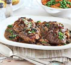 Rich braised beef with melting onions recipe - Recipes - BBC Good Food salad recipes beef recipes bariatric recipes shredded recipes little recipes tastees Beef Shin Recipes, Beef Recipes For Dinner, Bbc Good Food Recipes, Steak Recipes, Slow Cooker Recipes, Cooking Recipes, Healthy Recipes, Bariatric Recipes, Savoury Recipes