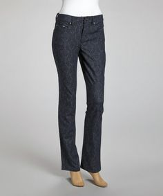 Take a look at this Denim Blue Jeans by Tribal on #zulily today! I love the look of these. Not loud or over the top tribal.