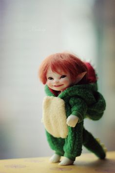 Fairy world Keka❤❤❤ Tiny Dolls, Bjd Dolls, Cute Dolls, Trolls, Kobold, Elf Doll, Elves And Fairies, Baby Fairy, Polymer Clay Dolls