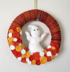 Ghost Yarn Wreath